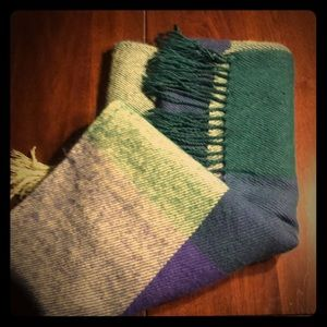 Accessories - Green and purple blanket scarf